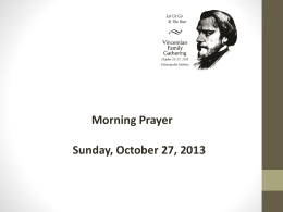 Prayer - SUNDAY