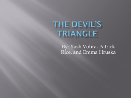 The Devil*s Triangle