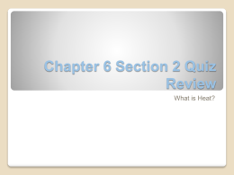Chapter 6 Section 2 Quiz Review