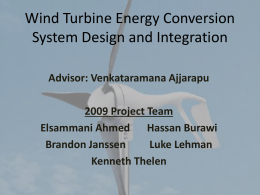 Wind Turbine Energy Conversion System Design and Integration