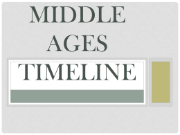 Middle Ages Timeline