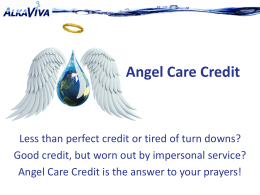 Angel Care Credit PowerPoint Presentation