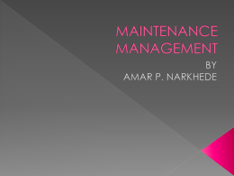 maintenance management ppt