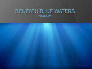 Theme Six Week Three: Beneath Blue Waters
