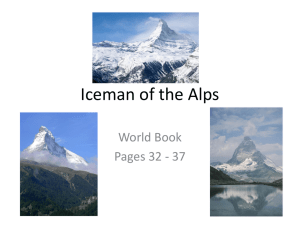 Iceman of the Alps Power Point - Mr. Corell`s Sixth Grade Class