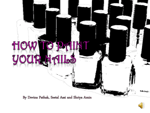 How to paint your nails powerpoint