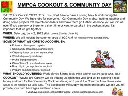 MMPOA COOKOUT & COMMUNITY DAY WE REALLY NEED YOUR