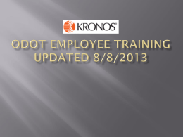 ODOT Employee Training