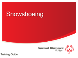Snowshoeing - Special Olympics Michigan