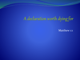 A declaration worth dying for