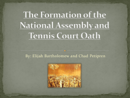 The Formation of the National Assembly and Tennis Court Oath