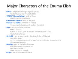 Major Characters of the Enuma Elish