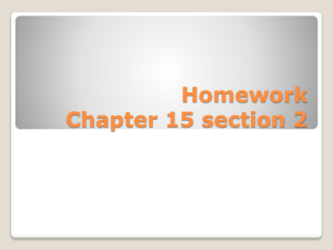 Chp15-2 homework review