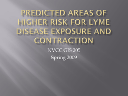 Predicted areas of higher risk for lyme disease exposure and
