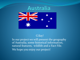 Australia presentation – Katie`s group