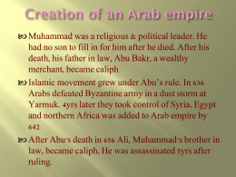 Creation of an arab empire