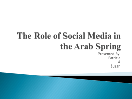 How Social Media Affected the Arab Spring complete
