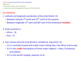 1. Web – Physical Characteristics of the Arab World