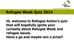 refugee action quiz