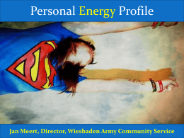 The Energy Director Assessment