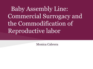 Baby Assembly Line: Commercial Surrogacy and the