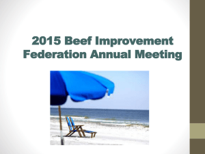 2015 Beef Improvement Federation Annual Meeting Back
