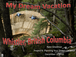 Project 6- Plannig Your Dream Vacation