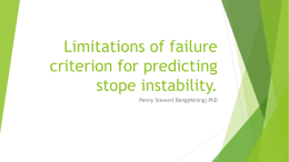 Limitations of failure criterion for predicting stope