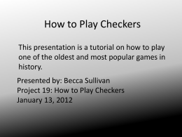 project 19 how to play checkers