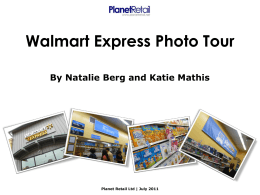 Walmart Express Photo Tour By Natalie Berg and