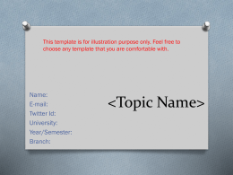 Sample PPT Template