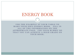 energy book content