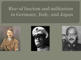 Rise of fascism and militarism in Germany, Italy, and Japan