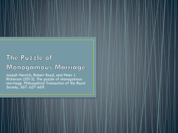 The Puzzle of Monogamous Marriage