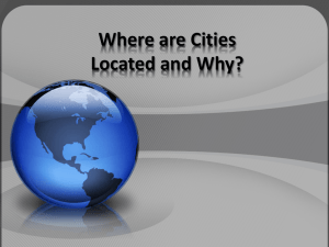 Where are Cities Located and Why?