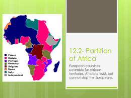 12.2- Partition of Africa