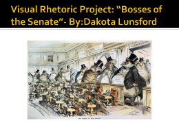 Visual Rhetoric for *Bosses of the Senate*: