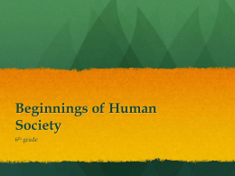 Beginning of Human Society_6th