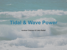 Tidal & Wave Power