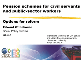 Civil service pension schemes