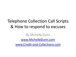 Telephone Collection Call Scripts & How to respond