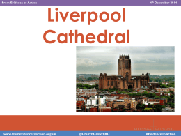 Liverpool Cathedral example - Church Growth Research Programme