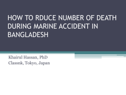 how to rduce number of death during marine accident
