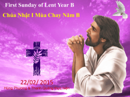 First Sunday of Lent Year B Chúa Nhật I Mùa Chay