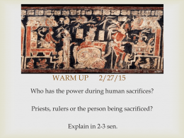 Maya sacrifice lesson