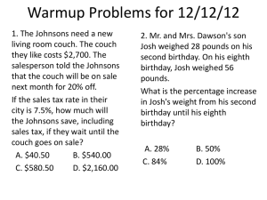 Warmup Problems for 12/12/12
