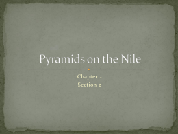 Pyramids on the Nile