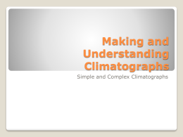 Making and Understanding Climatographs