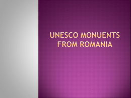 Unesco monuents from romania