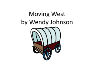 Moving West Power Point